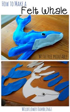 How to make a Felt Whale {ABC Felt Animals} -