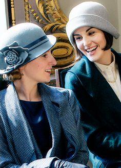 Downton Abbey ..Laura Carmichael and Michelle Dockery, Season 6..