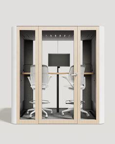 Meet Space L Double by @pin_mute Open Office, Bathroom Medicine Cabinet, Acoustic, Locker Storage, Meet, Space, Interior, Design, Decor