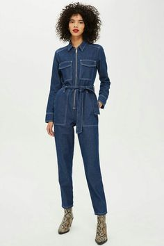 05cf5b1d04c Utility Zip Boiler Suit - Playsuits and Jumpsuits - Clothing - Topshop  Europe