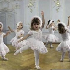 Baby ballerinas in white