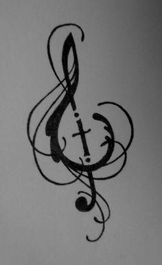 Tatoo Music, Music Symbol Tattoo, Music Tattoos, Body Art Tattoos, Girl Tattoos, Tatoos, Guitar Tattoo, Sleeve Tattoos, Tattoo Son