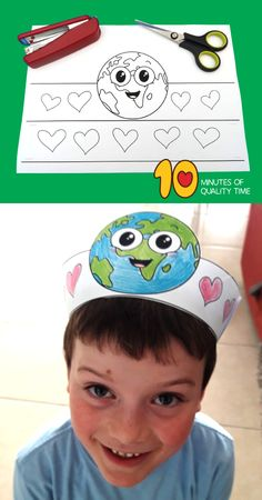 Earth Day Activities, Art Activities For Kids, Art For Kids, Crafts For Kids, Earth Day Projects, Earth Day Crafts, Science Experiments Kids, Science For Kids, Crown Crafts