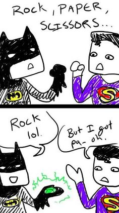 This is why Batman is better than Superman. MuaaH HA HA HAAA!!!