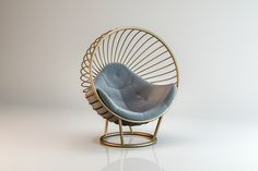 Floor standing bubble chair with champagne gold frame and light grey cushion Bubble Chair, Grey Cushions, Patio Design, Dark Grey, Bubbles, Flooring, Frame, Champagne, Silver