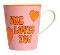 Kaffeebecher She loves you ♫♪ ☕ www.musiker-geschenke.com/Tassen