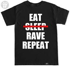 FTD Apparel Men's Eat No Sleep Rave Repeat EDM Concert T Shirt-Medium Black - Eat sleep repeat t shirts (*Amazon Partner-Link)