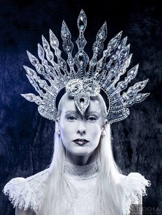 Snow Queen crown of beauty. Ice Princess, White Queen, Circlet, Snow Queen, Tiaras And Crowns, Headgear, Headdress, Faeries, Fascinator