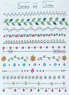 Resultado De Imagem Para Como Decorar Folha De Caderno Ideias