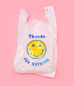 i like how it goes against what shopping bags normally say. it has an attitude. it's also a really clean and simple design