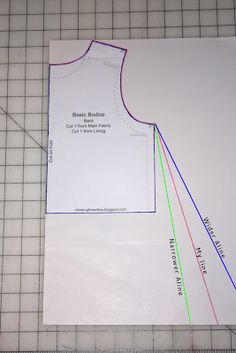 How to draft a line pattern from bodice pattern