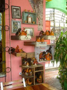 La Fonda Paisa. Cartagena, Colombia 20.12 Fonda Paisa, Painting, Cartagena Colombia, Restaurants, Painting Art, Paintings, Painted Canvas, Drawings