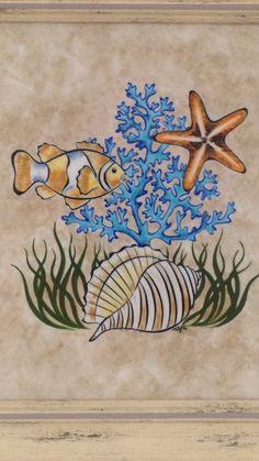 Dot Painting, Fabric Painting, Sea Creatures Drawing, 3d Art Drawing, Fish Art, Fish Fish, Watercolor Ocean, Madhubani Painting, Turkish Art