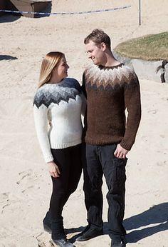 Ravelry: Bugða pattern by Hulda Soffia Icelandic Sweaters, Nordic Sweater, Fair Isle Pattern, Pullover, Sweater Design, Sweater Fashion, Free Knitting, Knitting Projects, Ravelry