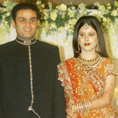 Virender Sehwag married Aarti in a star-studded wedding at then Union minister Arun Jaitley's house in 2004.