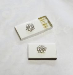 Jeweled Matchboxes  Set of Four  Wood by EmbracingYesterday, $10.00