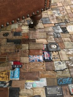 From Jeans Label to Carpet in accessories with Recycled jeans carpet