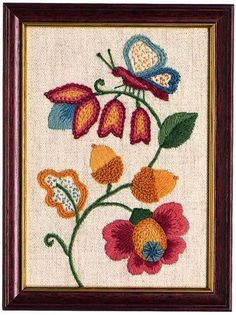Acorns Starter Crewel Embroidery Kit by ColeshillCollection