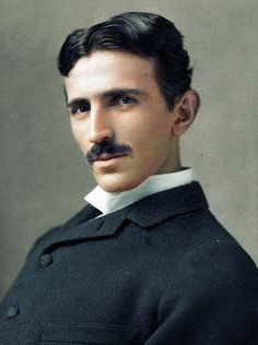 20 Historic Black & White Photos Colorized | DeMilked - Nikola Tesla, 1893