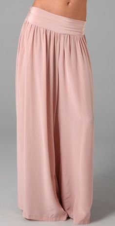 $324 Palazzo pants in Blush. Better than maxi skirt.