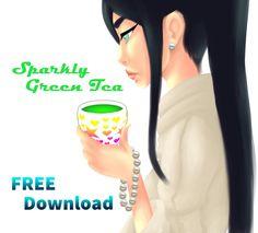 Sparkly Green Tea Model Download FREE by DraconianRain.deviantart.com on @DeviantArt