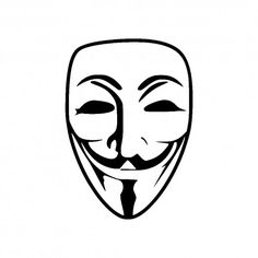 Vinyl Decal Guy Fawkes Anonymous Mask by AstroPlatypus on Etsy Hacker Mask, Anonymous Maske, Guy Fawkes Mask, Vendetta Mask, Rain Wallpapers, Hacker Wallpaper, Mask Drawing, Logo Shapes, 3d Pen