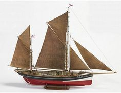 The Billing Boats 1/50 Fishing Boat FD10 Yawl wooden ship model measures 57cm long, 70cm high and 12cm wide. This wooden boat kit is highly realistic with many fine details.