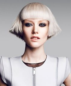 Blunt and layered by Toni and Guy