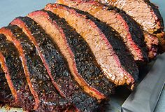Create the most flavorful bark on the block with this smoked brisket recipe from Jacobsen Salt Co. Jacobsen pure sea salt is the best tenderizer & Traeger wood-fired smoke adds amazing flavor during a long smoke session. Grilled Brisket, Bbq Brisket, Smoked Beef Brisket, Traeger Grills, Traeger Smoker, Beef Jerky, Traeger Recipes, Roast Recipes, Barbecue