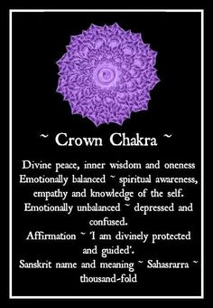 °Crown Chakra #relax #peace #buddha #buddhism #yoga #meditation #spiritual