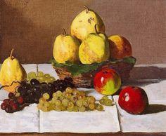 Nature morte, poires et raisin (C Monet - W 103)