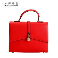 46.62$  Watch now  - 2015 New Fsahion Women Handbags Vintage Genuine Leather bags 2 Size Women Shoulder Bags Crossbody Bag Women Party Tote BH1184