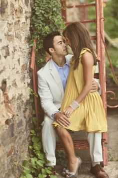 I want this dress!!  Southern Wedding Engagement - Arkansas, Benfield Photography