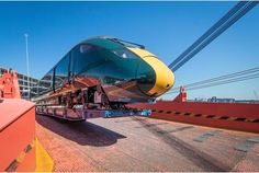 The first Intercity Express Train bound for GWR's Devon and Cornwall route has now arrived in the UK. From 2018 a new fleet of Class 802 Intercity Express Trains will connect London Paddington. Uk Rail, Devon And Cornwall, Train Journey, Diesel Locomotive, Exeter, Train Tracks, Weekend Is Over, Plymouth