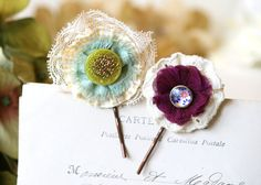 Bohemian Hair Flowers - Colorful Fabric Flower Bobby Pins
