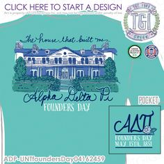 TGI Greek - Alpha Delta Pi - Founders Day - Greek Apparel #tgigreek #alphadeltapi