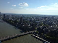 London from the eye! Landscapes, River, London, Eyes, Outdoor, Paisajes, Outdoors, Scenery, Outdoor Games