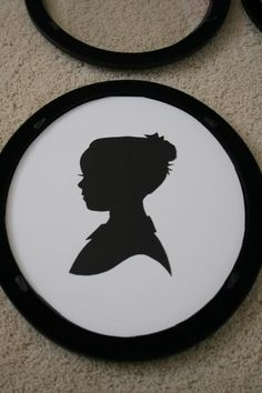 d09164ad071 Here s a tutorial for creating silhouettes-did this with the boys and  displayed them on a blank canvas · Silhouette ArtSilhouette ...