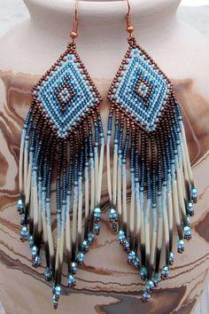 Beaded earrings 62980094761789058 - Navajo Rug Pattern Porcupine Quill by CreationsbyWhiteWolf Source by Seed Bead Jewelry, Seed Bead Earrings, Beaded Earrings, Beaded Jewelry, Fringe Earrings, Angel Earrings, Quilling Earrings, Yellow Earrings, Jewellery