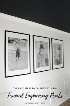 Large Framed Photo Tutorial - arinsolangeathome - Large framed photos can make a huge inpact on your home decor, and can be done at a low cost. Quirky Home Decor, Cute Home Decor, Inexpensive Home Decor, Cheap Home Decor, Large Photo Prints, Large Wall Prints, Large Family Photos, Large Wall Pictures, Shabby Chic