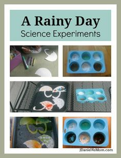 We read a fanastic non- fiction book called Who Likes the Rain? and did two effects of rain experiments.