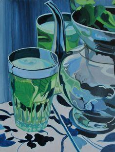 "Saatchi Art Artist: Zohar Flax; Acrylic 2013 Painting ""Mint Tea"""