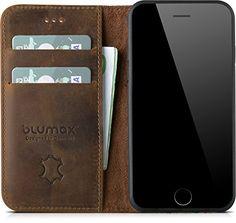 Blumax iPhone 8 iphone 7 sogar iPhone 6s & 6 Flipcase Led... https://www.amazon.de/dp/B01MYMO1WA/ref=cm_sw_r_pi_dp_U_x_5FWEAb2FAST5P    Die Handytasche wird von Hand gefertigt und ist daher immer ein Unikat. Auch der Vintage-Look ist unterschiedlich auf der Lederhülle ausgeprägt. Schutzhülle: Das Leder-case hat eine integrierte Innenpolsterung. Dadurch ist Ihr wertvolles Smartphone sicher vor Stürzen und Stößen geschützt Kreditkartenfach/ portemonnaie: Mit den integrierten Einschüben