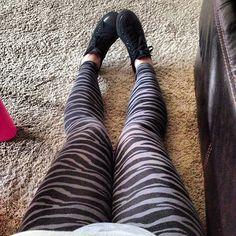 Vs Zebra Print Leggings