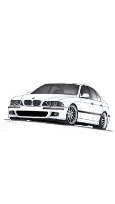 Tuner Cars, Jdm Cars, Car Prints, Reliable Cars, Bmw E39, Old School Cars, Car Illustration, Japan Cars, Car Drawings
