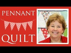 Going on my to do list! The Pennant Quilt: Easy Quilt Tutorial with Jenny Doan of Missouri Star Quilt Co. What fabric would you choose if you made this?