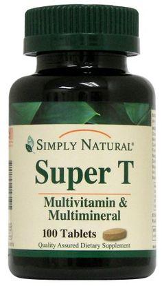 Simply Natural Super T, 100 tablets * Visit the image link more details.
