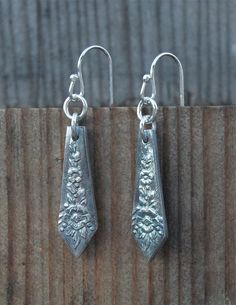 delicate flower earring silver eco friendly art deco by lynncobb, $45.00