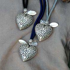 Torquato - Seidenkette mit Herz