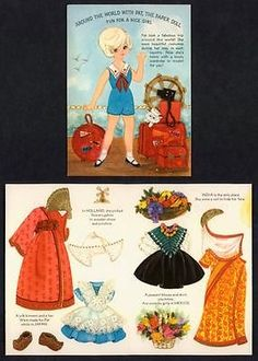 1970's(?) Hallmark Paper Doll Greeting Card (4669)